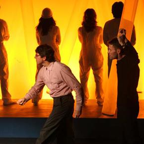Michele La Ginestra in scena con Marco Zadra