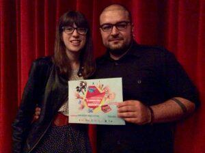 """Chiara Boscaro e Marco Di Stefano - vincitori del Concorso """"Una Commedia in cerca di autori"""" - IV edizione"""